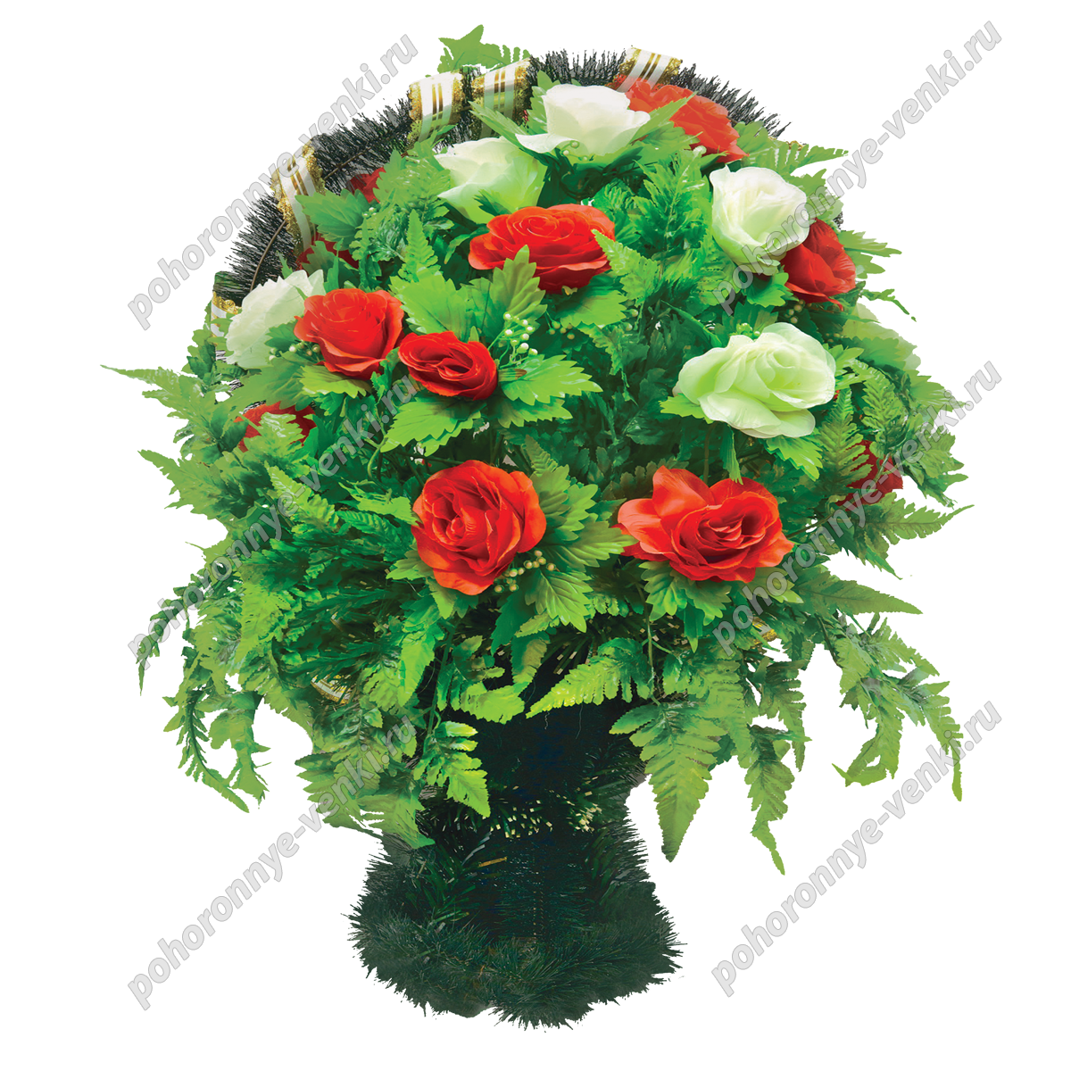 Корзины ритуальные из искусственных цветов